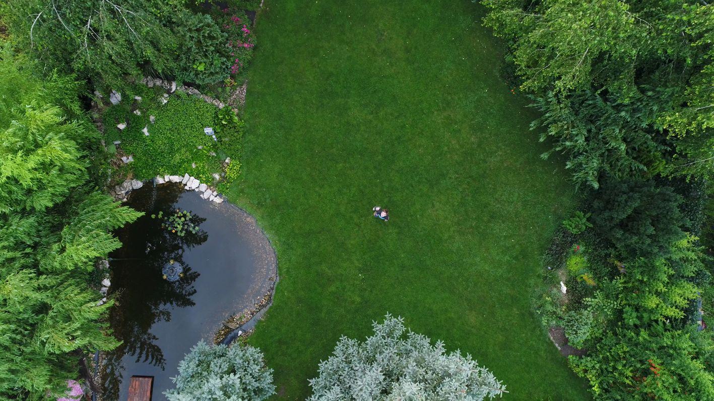 kert drón felvétel