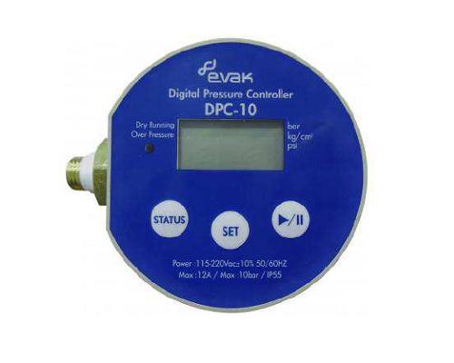 Evac DPC-10 digitális nyomáskapcsoló 2,2 kW-ig