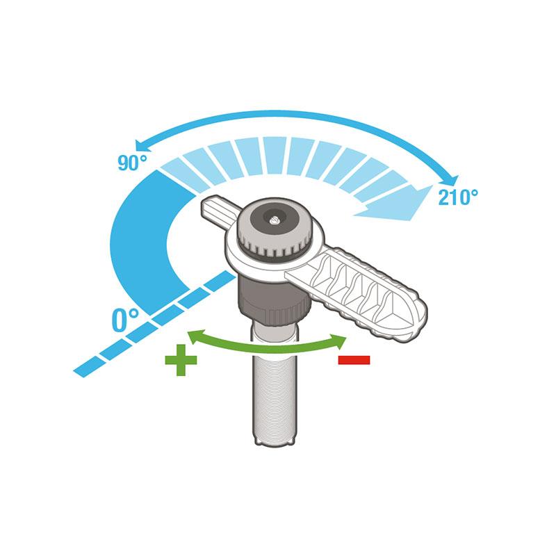 Hunter mp rotator 2000 90°-210° R=6,4 m